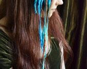 Mermaid MINI ELFLOCKS Clip-in Dreads Streak in Blue/Green/Brown Dreadlocks Alt Fashion Tribal Dance Cosplay Goth LARP