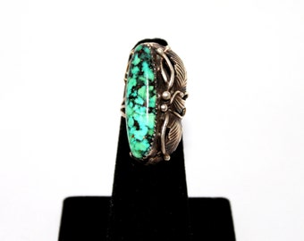 1970s Turquoise Sterling Silver Navajo Ring