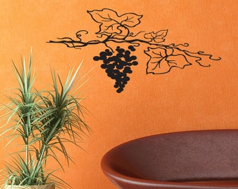 Wall Quotes Grape Vine Vinyl Wall Decal Quote Removable Wall Sticker Home Decor (455)