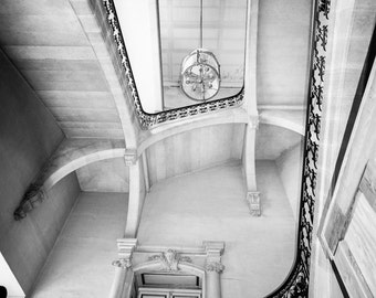 "Black and White Photography - staircase versailles palace paris photography black and white Paris photo travel photography 8x10 ""Majesty"""