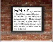 FAMILY definition - Vinyl Wall Art Lettering, Quotes, Decals by Delicate Expressions