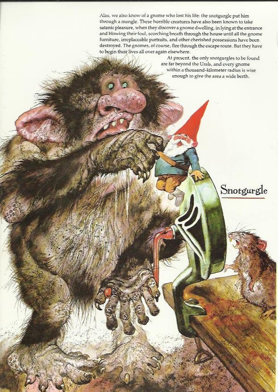 Gnome Snotgurgle Troll Rat Elf Elves Baby By
