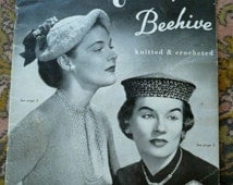 Vintage Hat Book1930's 1940's  Knitted and Crocheted Hats Original Book Hats by Beehive