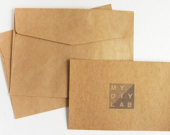 "Set of 10 Kraft Envelops | 7"" x 6"""