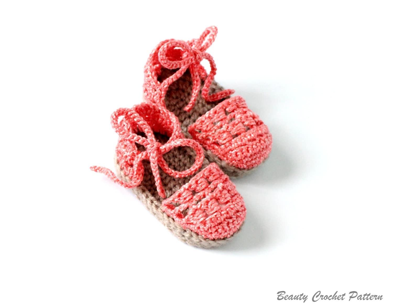 Crochet Baby Espadrille Pattern Baby Espadrille Sandals