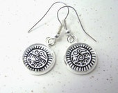 THUNDERBIRD Silver Dangle Earrings -- Native American and Pacific Northwest Thunderbird earrings -- the Keeper of Truth