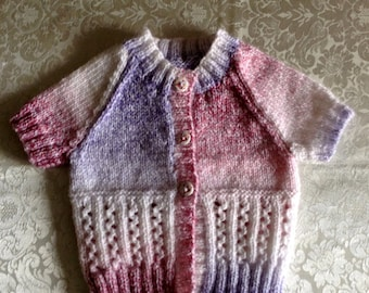 Multi Coloured Short Sleeve Cardigan