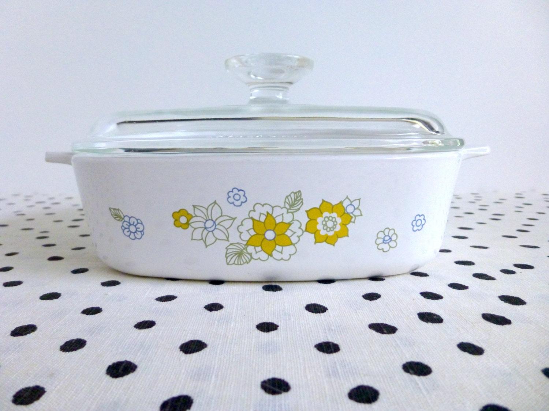 Sale Vintage Corning Floral Bouquet Casserole Dish Corningware