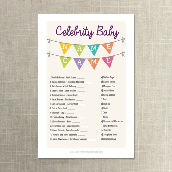 Top Free Android Games Dont Miss It Download Now Free: Instant Download Baby Shower Celebrity By CreativeUnionDesign