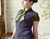 womens tank top - spring fashion - net top - knitted top - bohemian top -  linen tank top - charcoal - grunge top - avant garde clothing