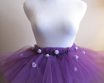 Purple Rosy Tutu, Flower Girl, Flower Costume, Birthday Outfit, Clothing or Costume