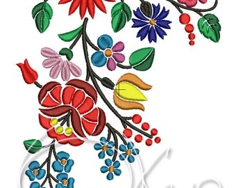 MACHINE EMBROIDERY FILE - Hungarian art - flowers
