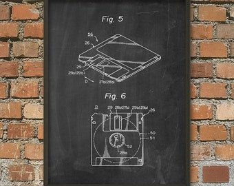Floppy Disk (Diskette) Schematic Diagram Wall Art Poster 2