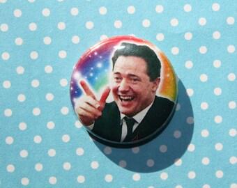 Brendan Fraser- One Inch Pinback Button Magnet