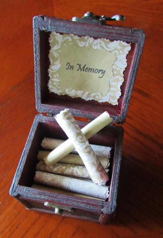 Memory Scroll Box, Wood Chest Filled With Sympathy Quotes, Meaningful Grief Gift, Comforting, Memorial Gift, Sympathy Card, Personalized