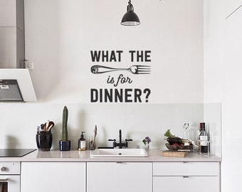 What the Fork is Fun Dinner: Funny and Totally Rude Kitchen Wall Decal