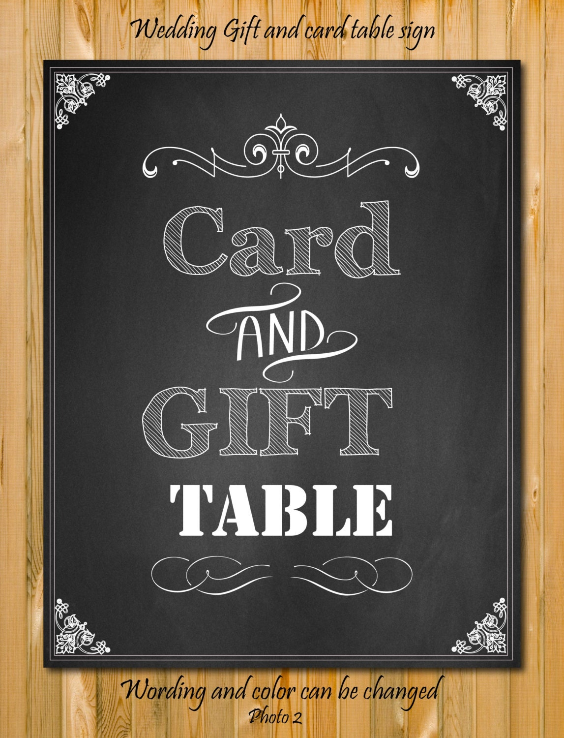 Wedding Gift Table Sign Wording : Card and Gift table Sign Custom wedding Sign by chalkboarddesign