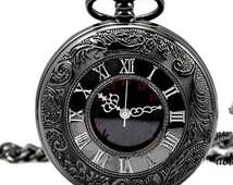 Men Vintage Pocket Watch Antique Watch Mechanical Hand Wind Skeleton Watch, Steampunk; Gift for Him, Anniversary, Weddings, Groomsman W#30
