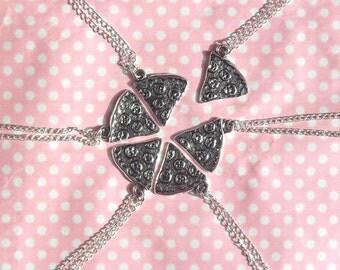 Cute Pizza friendship necklaces