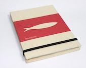 Notebook LISBON, Portugal - SARDINE - Red