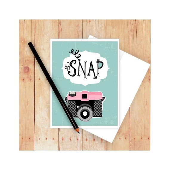 Oh Snap Card Photography Card Camera Stationery Birthday – Photographer Birthday Card
