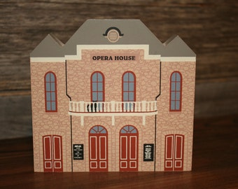 Vintage The Cat's Meow Central City Opera House ~ Series IX ~ Wood Collectible ~ Colorado