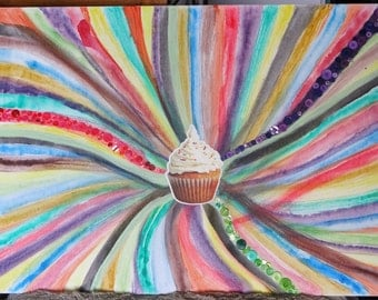 Cupcake Pop Art Canvas