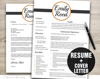 Designer Resume Template Instant Download - Resume Cover Letter Template - Teacher Resume Template - CV Template