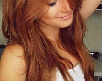 popular items for red hair extensions on etsy