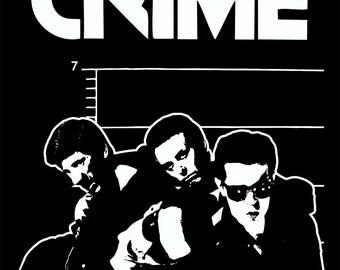 CRIME band T Shirt KBD 77 Punk Rock n Roll Tee Screen Print