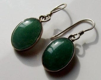 Vintage 925 Sterling Silver Amazonite Drop Earrings