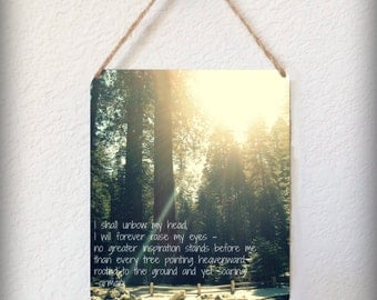 Retablo Affirmation Photography - Trees in Sunrise, Landscape Photo, Poetry, Yosemite, Print