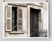 "Paris Photography, ""Black Door"" Paris Print, Large Art Print Fine Art Photography"