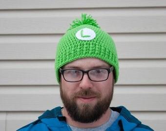 Super Mario Bros crochet hat - Luigi