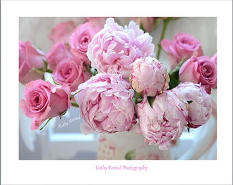 pink peonies romantic peonies peonies baby girl nursery decor print