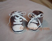 High Top Baby Booties, Sneakers, Sports Shoes -INSTANT DOWNLOAD Crochet Pattern