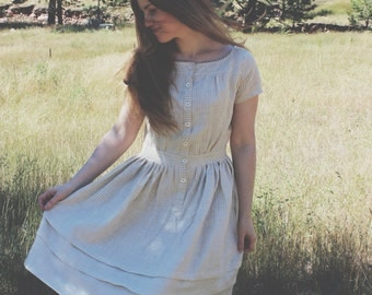 Linen Striped Seaside Dress