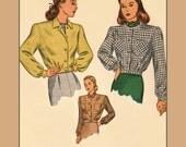 1940s Land Girl Lumber Jacket digital pattern - Vintage Sewing Pattern PDF 1006