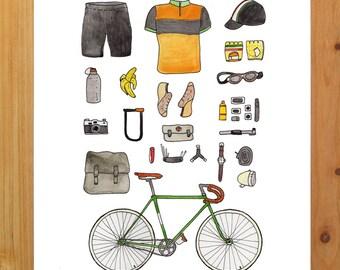 "Bicycle Gear Print 8.5"" x 11"""