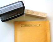 Thank You Kindly Stamp, Banner Thank You Packaging Stamp, Wood Mounted Rubber Stamp or Self Inking Stamp, Branding, Packaging, Mail Stamp