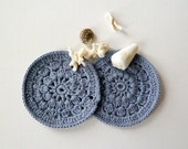 Cotton Coasters Set of Two, Blue
