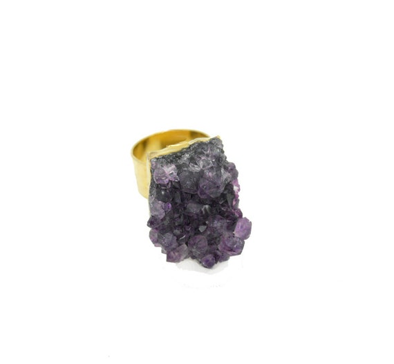 Raw Amethyst Ring SALE