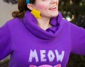 Meow Wow! - Mabel Pines Inspired Custom Cosplay Sweater with GLITTER Applique -MADE to ORDER!