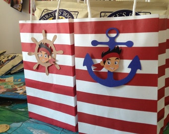 Jake and the Neverland Pirates Party Booty Favor Bag