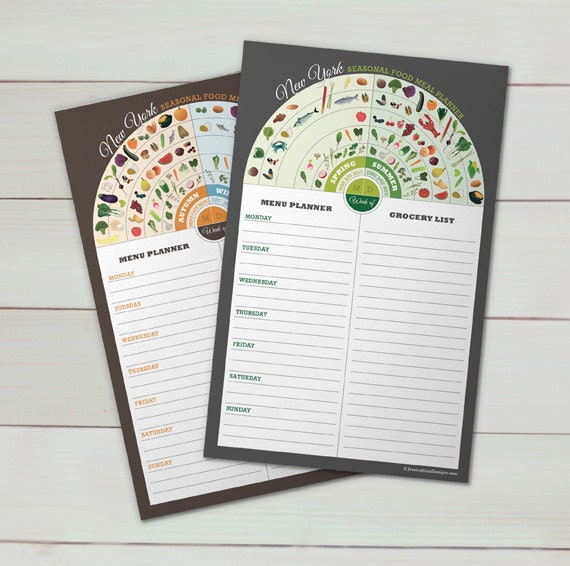 New York Menu & Grocery Planner Set