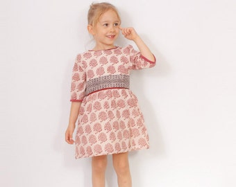 Victoria DRESS pattern pdf - toddler dress patterns - from 2 to 7 years