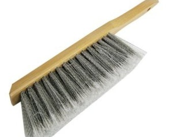 """Bench & Shop Duster Brush 7"""" inch Counter Broom fine bristle Wood Handle Beaver Tail Sweeper"""