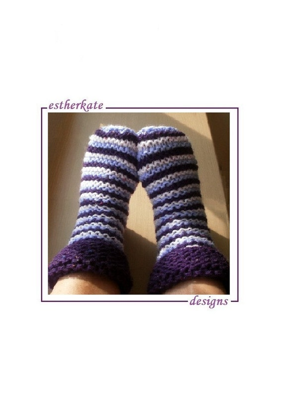 Knitting Pattern Chunky Bed Socks : KNITTING PATTERN pdf chunky cosy toes bed by EstherKateDesigns