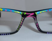 """Hand Painted  Reading Glasses """"Jelly Bean's""""Trendy, detailed, fashionable. They come in all strengths and custom made just 4 you."""