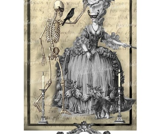 Halloween Masquerade Ball, a Wickedly Lovely Gothic blank greeting card.